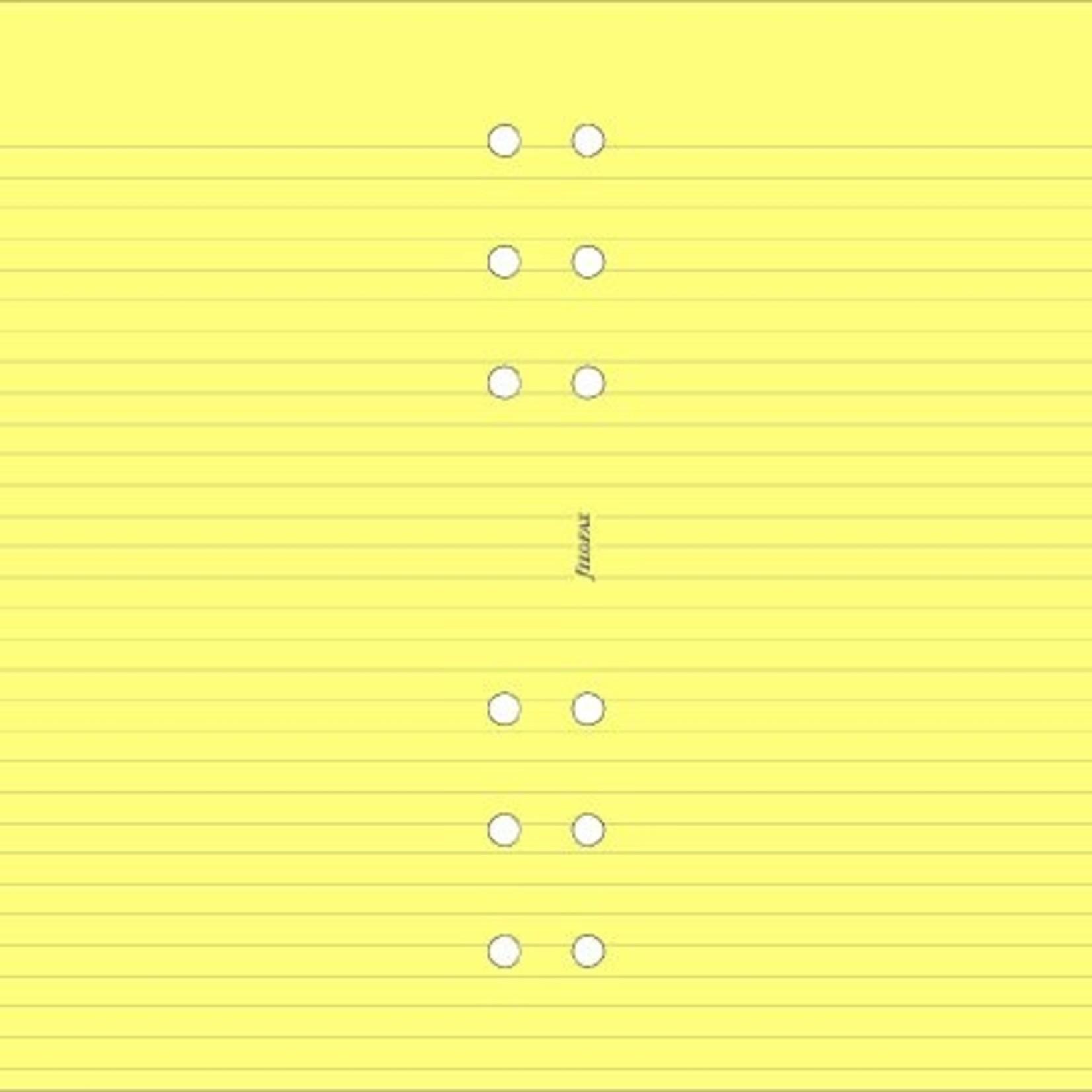 Filofax Filofax Einlage Pocket, Papier liniert, gelb