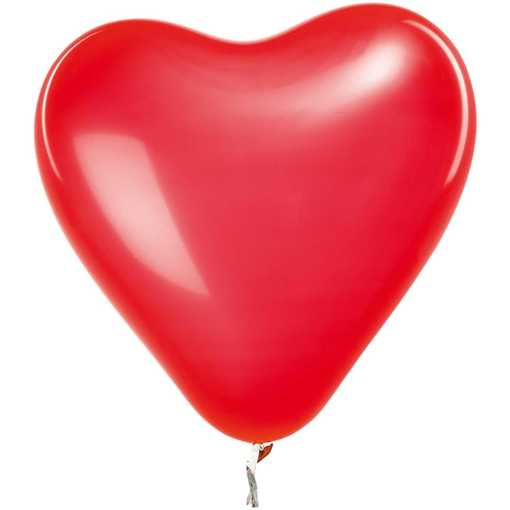 Rico Design Herzförmige Ballons in rot