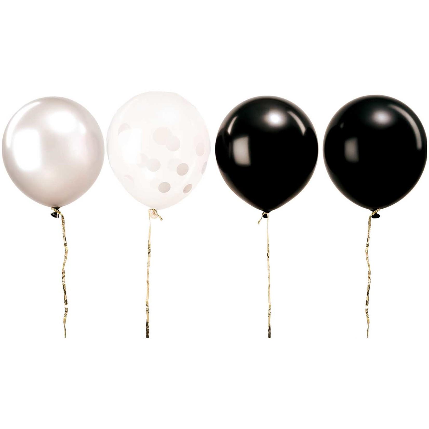 Rico Design Ballons in schwarz und weiß