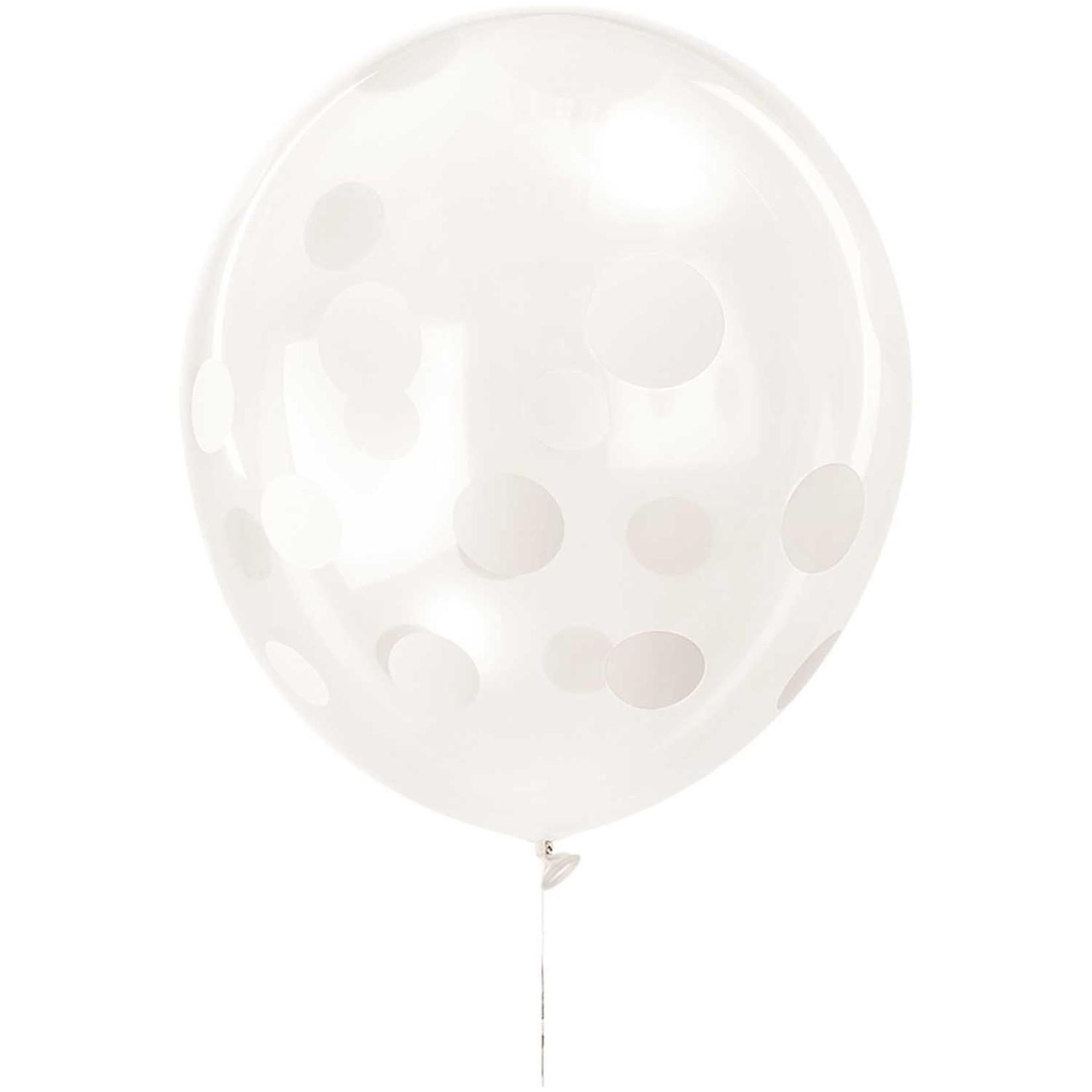 Rico Design Ballone in transparent mit weißen Punkten