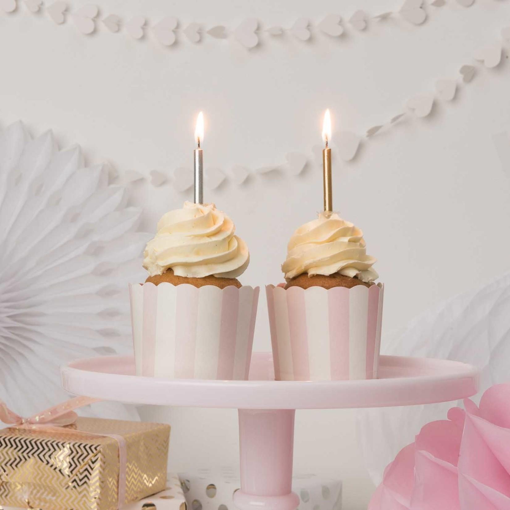 Rico Design 48teiliges Kerzenset in gold & silber