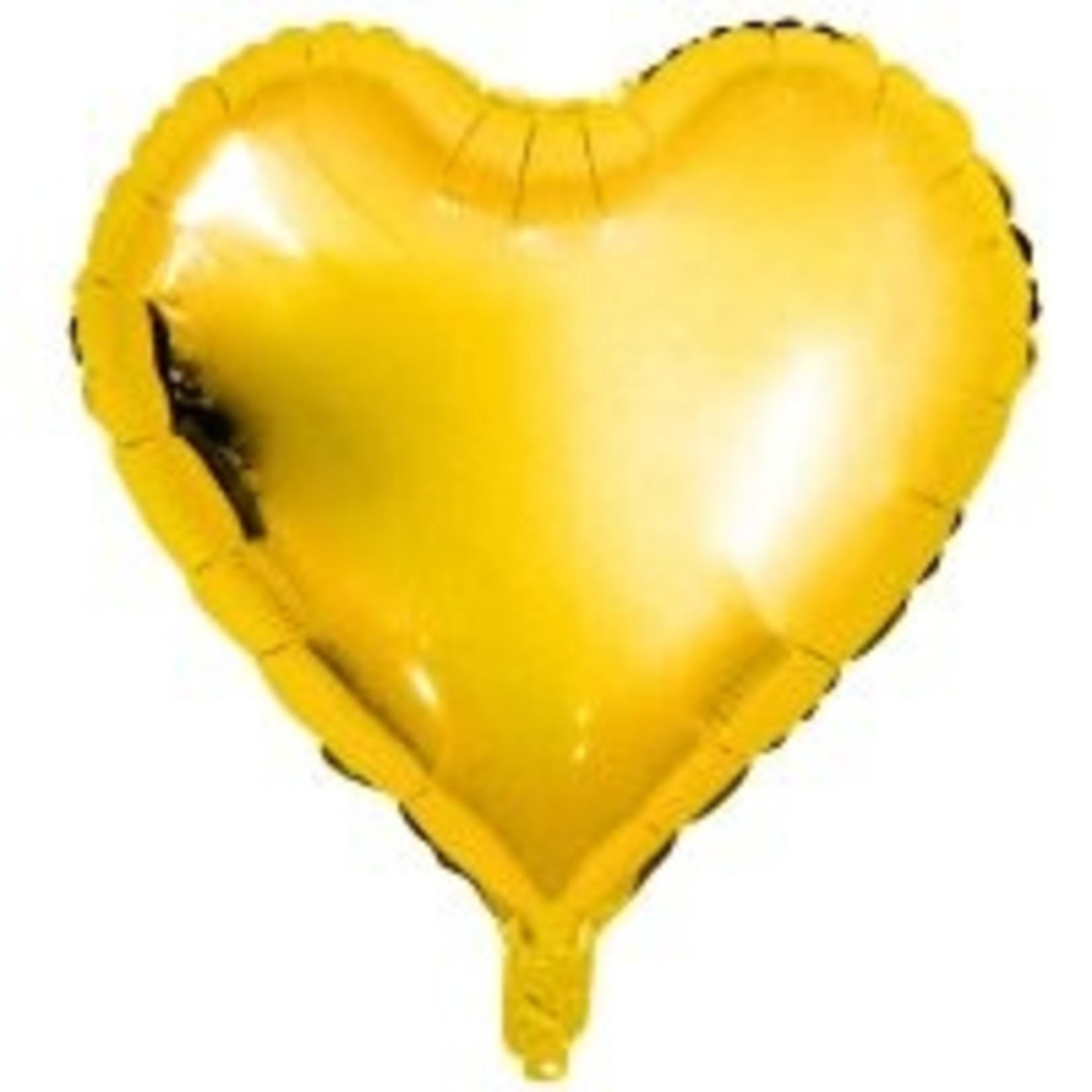 """Rico Design Goldener Folienballon """"Herz"""""""