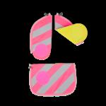 ERGOBAG ergobag Zip-Sets mit Reflektorstreifen pink