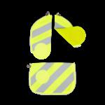 ERGOBAG ergobag Zip-Sets mit Reflektorstreifen gelb
