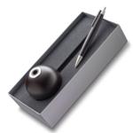 Lamy Kugelschreiber aus Grenadill-Holz - Edelstahl-Clip & Ständer aus gebeizter Buche