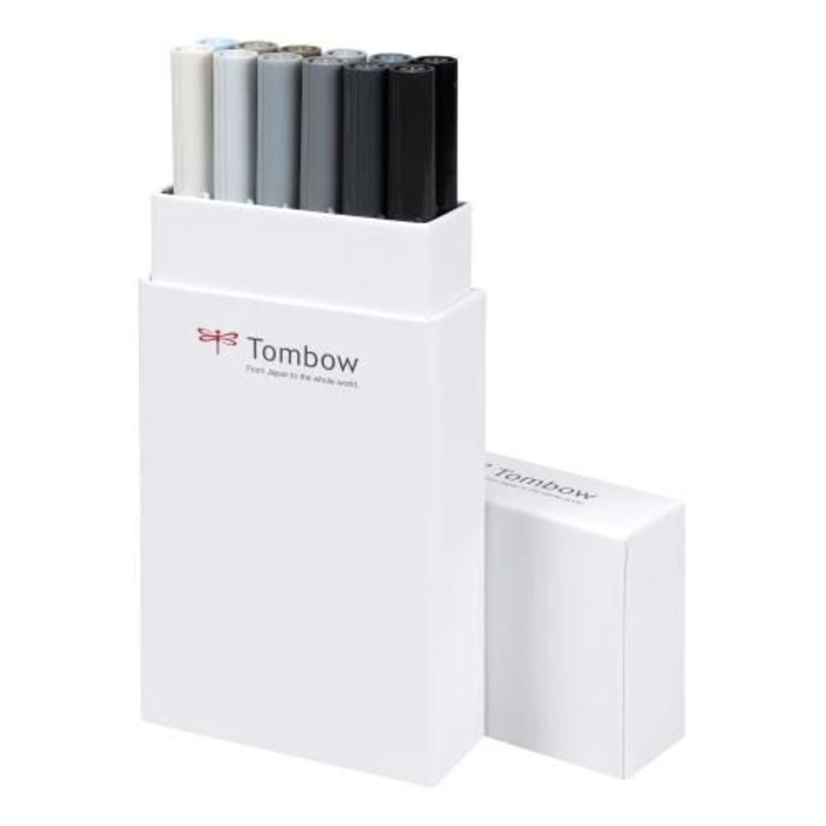 Tombow Dual Brush Pen 12er-Set  Grautöne