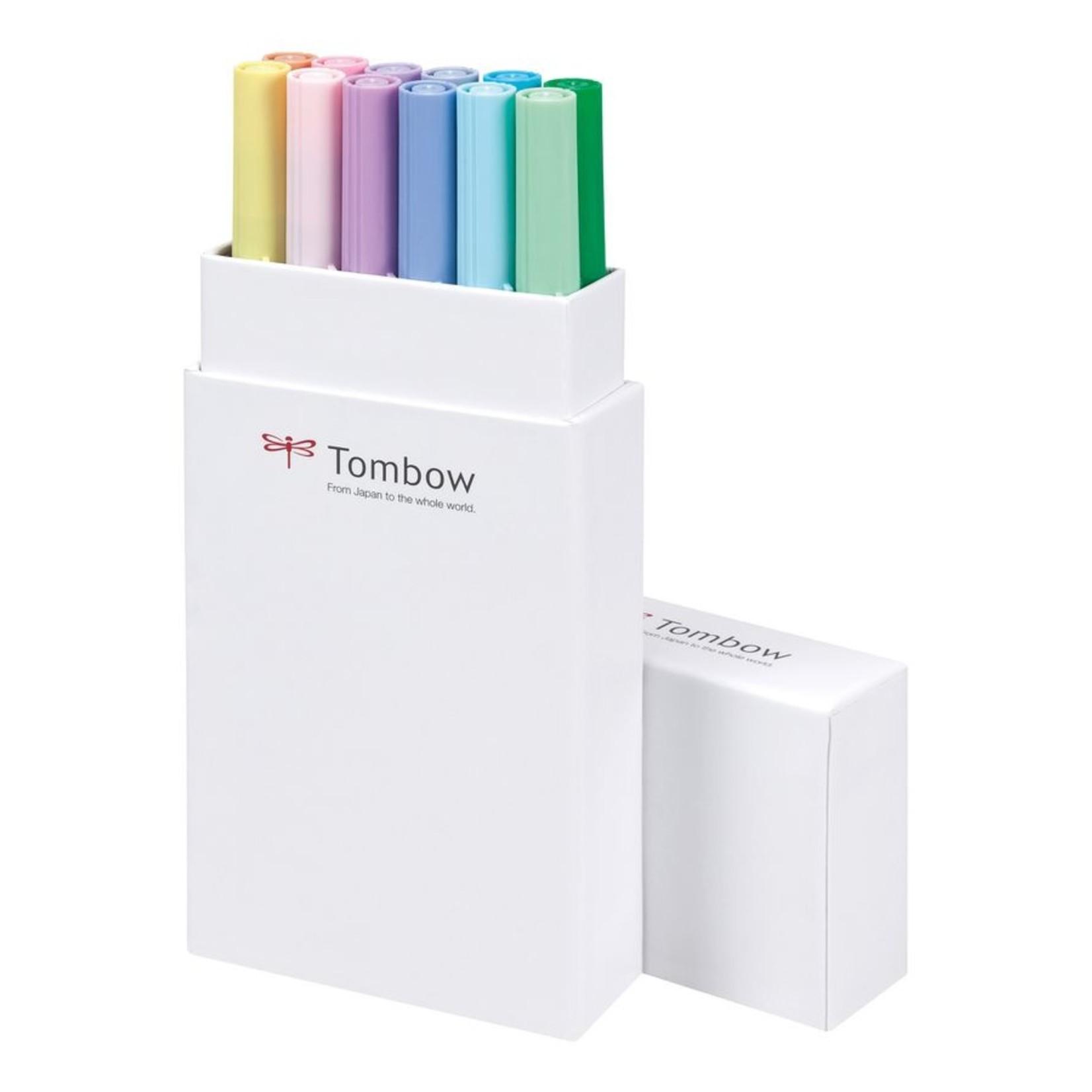 Tombow Dual Brush Pen 12er-Set Pastellfarben