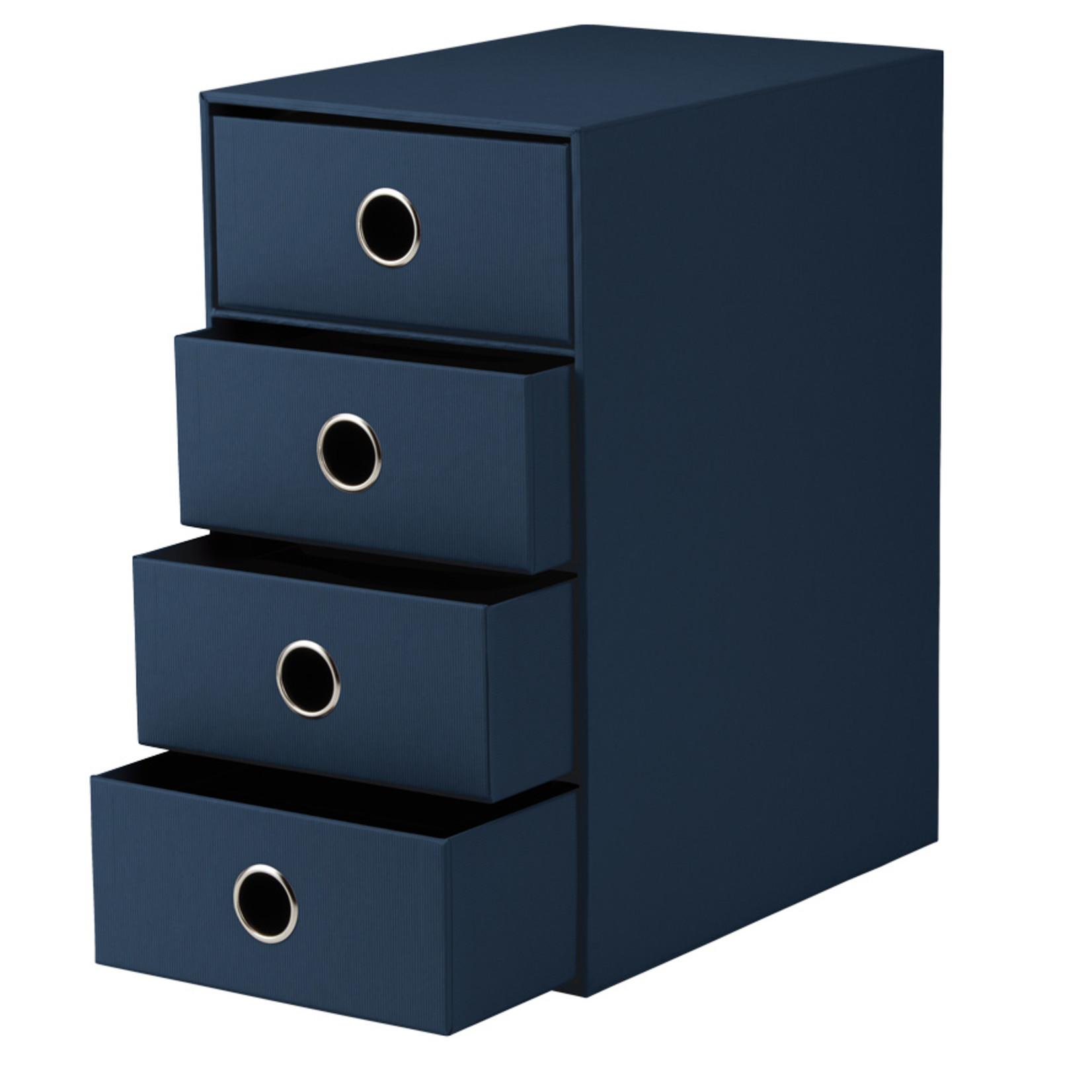 Rössler SOHO Schubladenbox | 4x A5 | 3cm navy