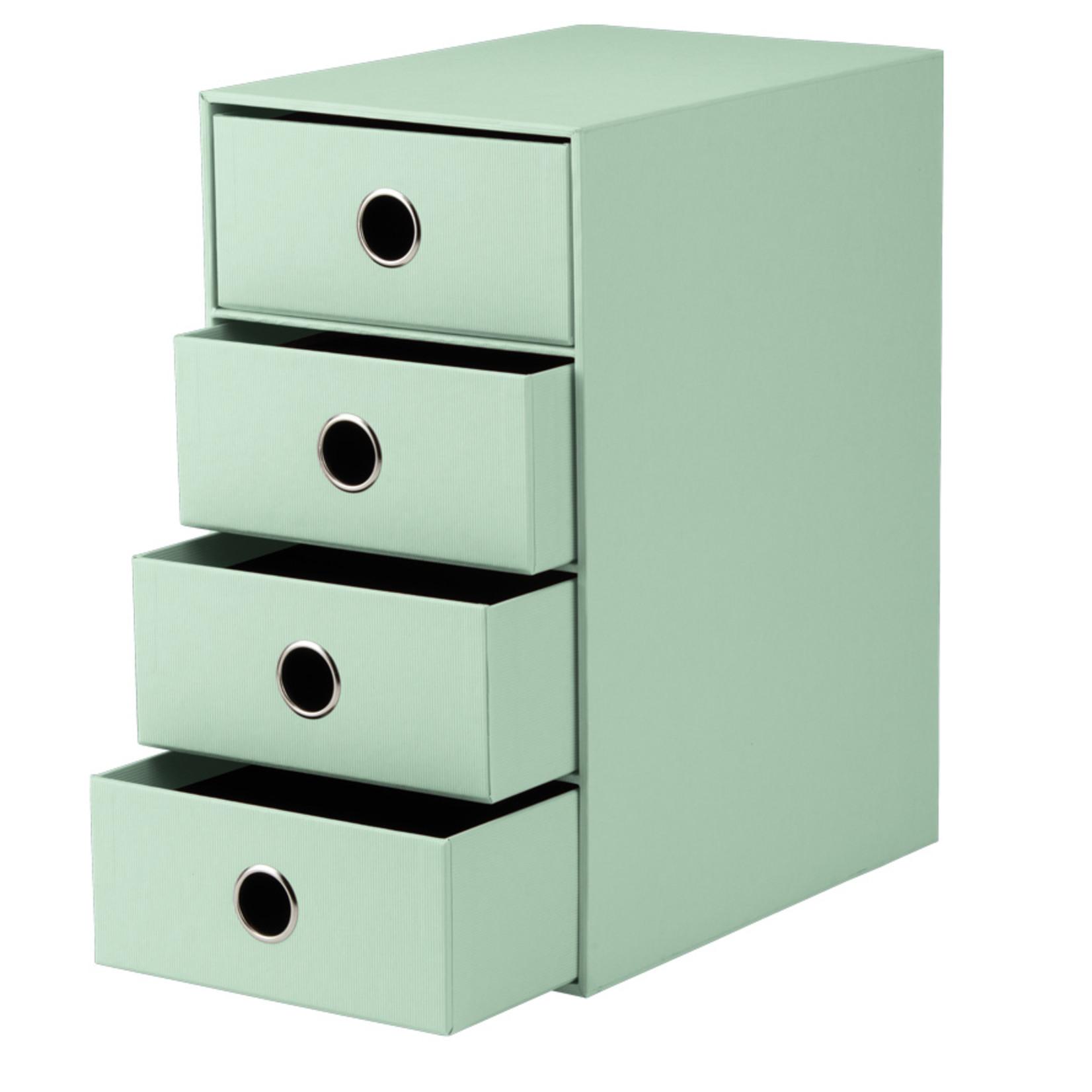 Rössler SOHO Schubladenbox   4x A5   3cm mint