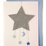Talking Tables Baby Star Mobile Card