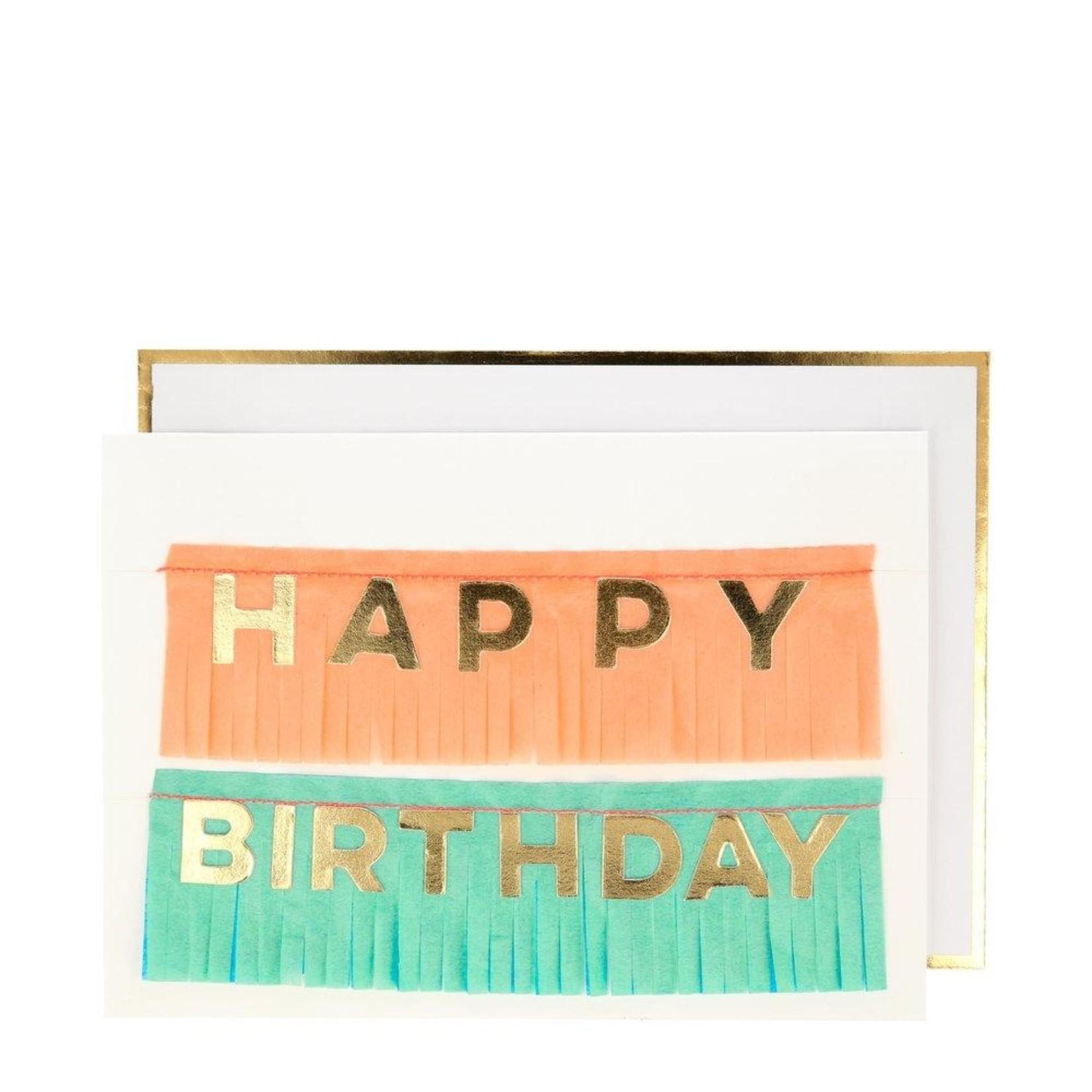 Talking Tables Birthday Fringe Garland Card