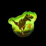 ERGOBAG Glow in the Dark-Klettie Dinosaurier