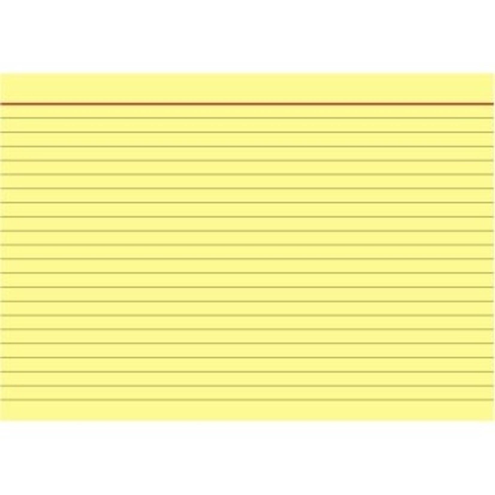 BRUNNEN Karteikarte DIN A5 quer liniert gelb 100 St./Pack.