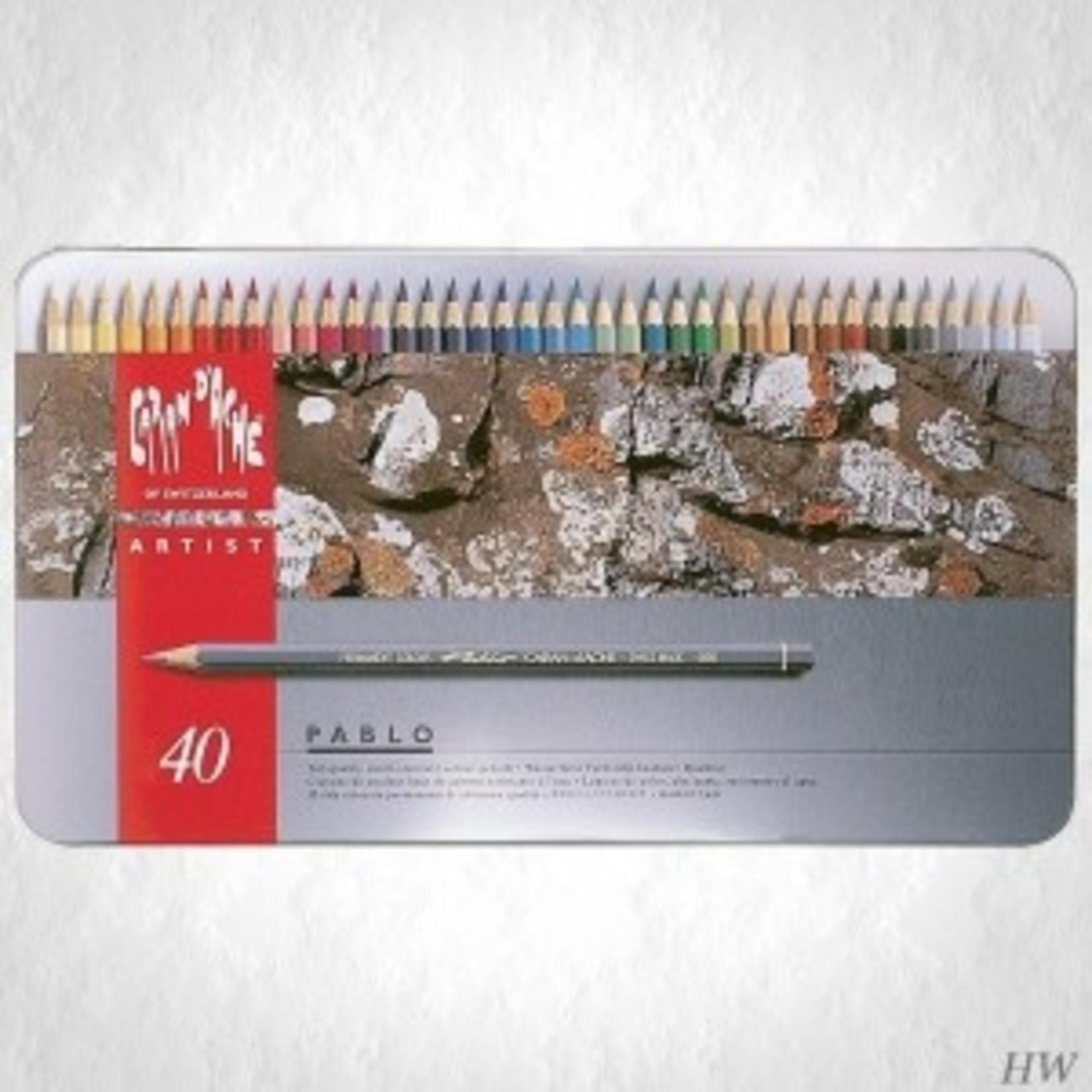 Caran d'Ache Farbstifte PABLO Metallschacht 40 Stück