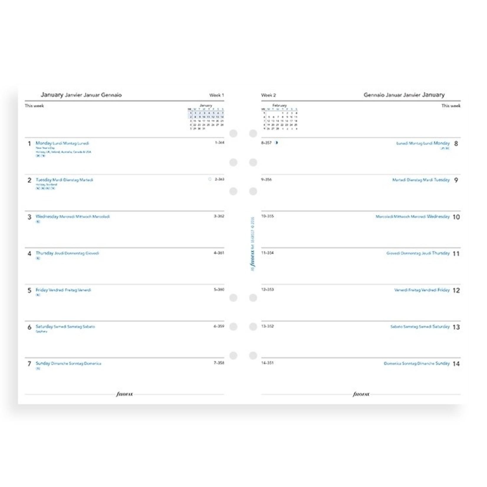 Filofax A5 1W/1S (M)2022