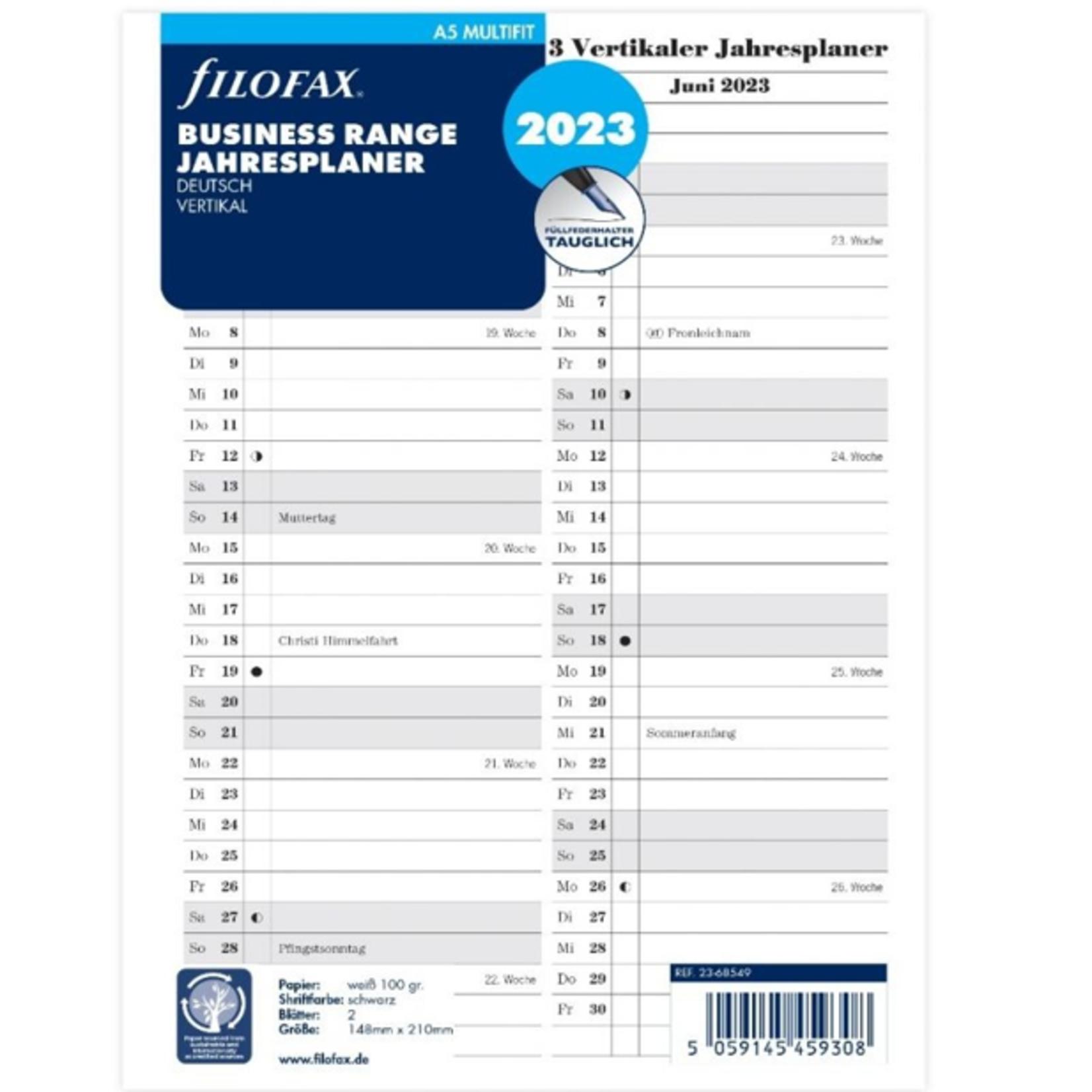 Filofax A5 Multi Jahrespl.vert.(D)2023
