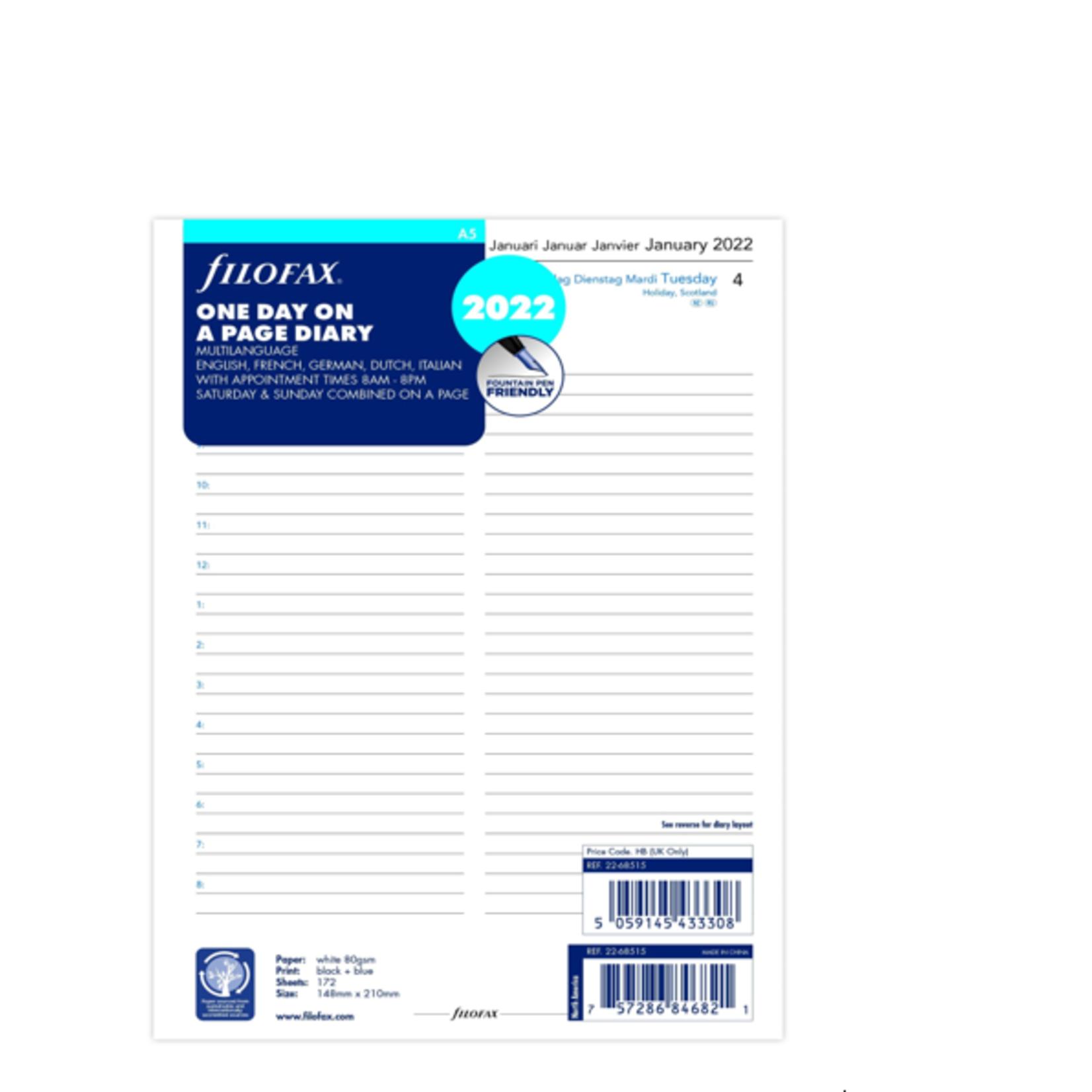 Filofax A5 1T/1S (M)2022