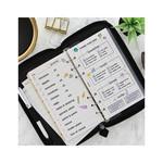 Filofax Saffiano Zip Personal Compact Organiser Black