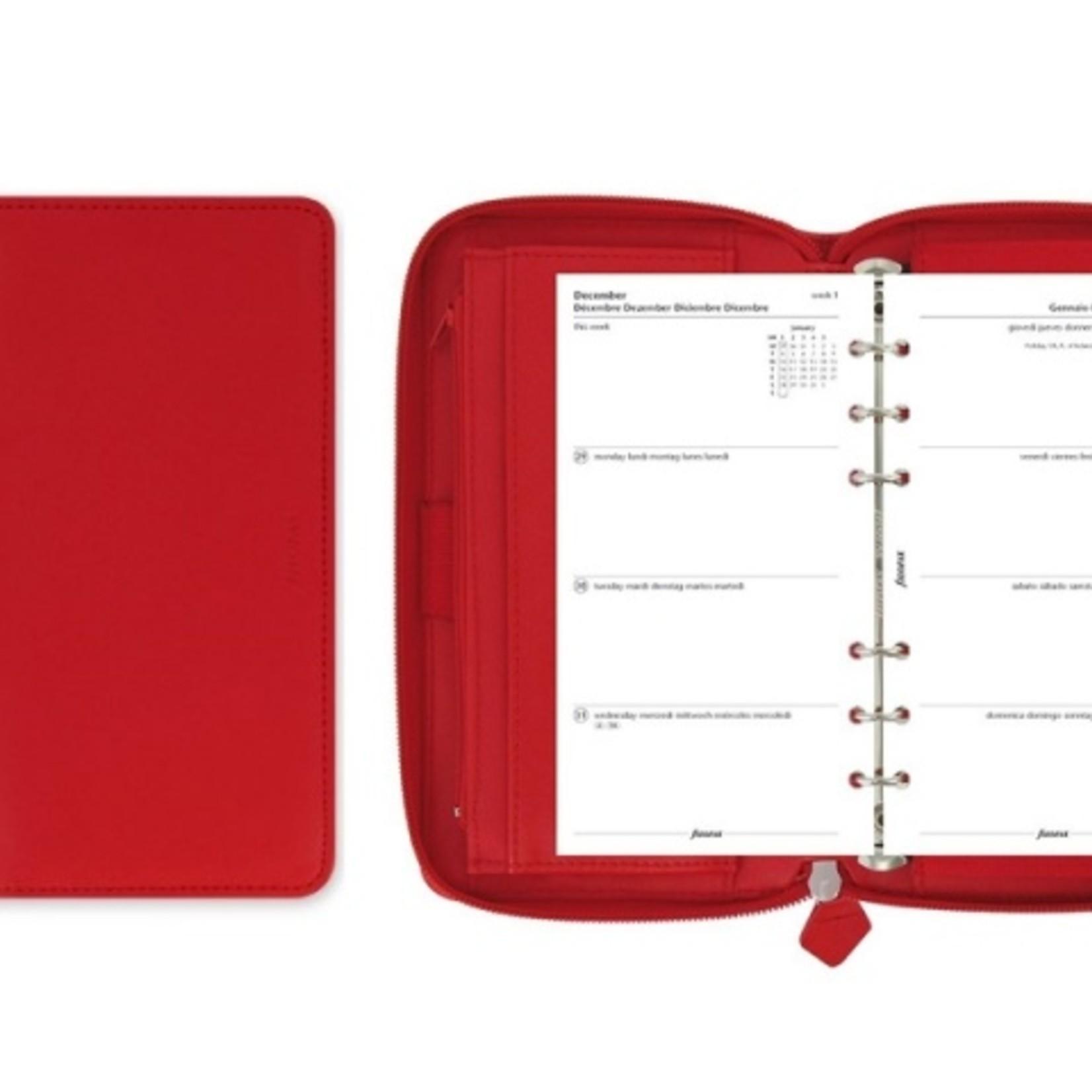 Filofax RINGBUCH FILOFAX PERSONAL COMPACT SAFFIANO ZIP POPPY