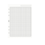 Filofax A5 Karopapier 5mm