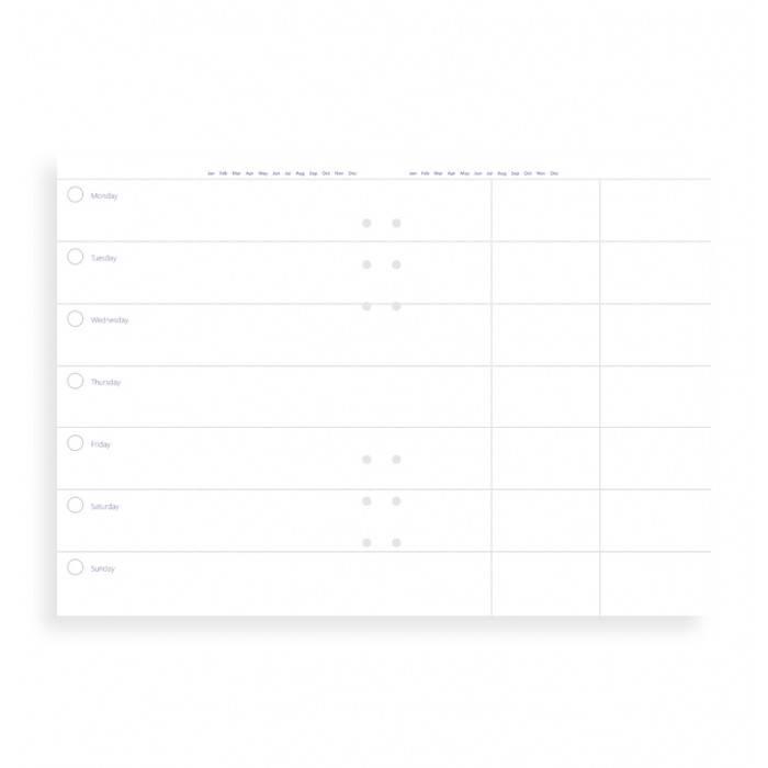 Filofax CLIPBOOK A5 Kalender 1W/2S undatiert