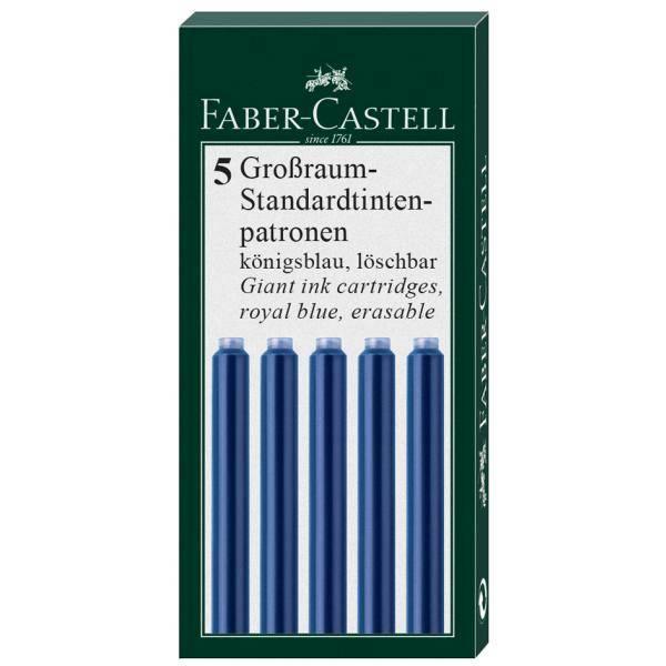 Faber-Castell FC Großraum-Standardtintenpat. blau 5er