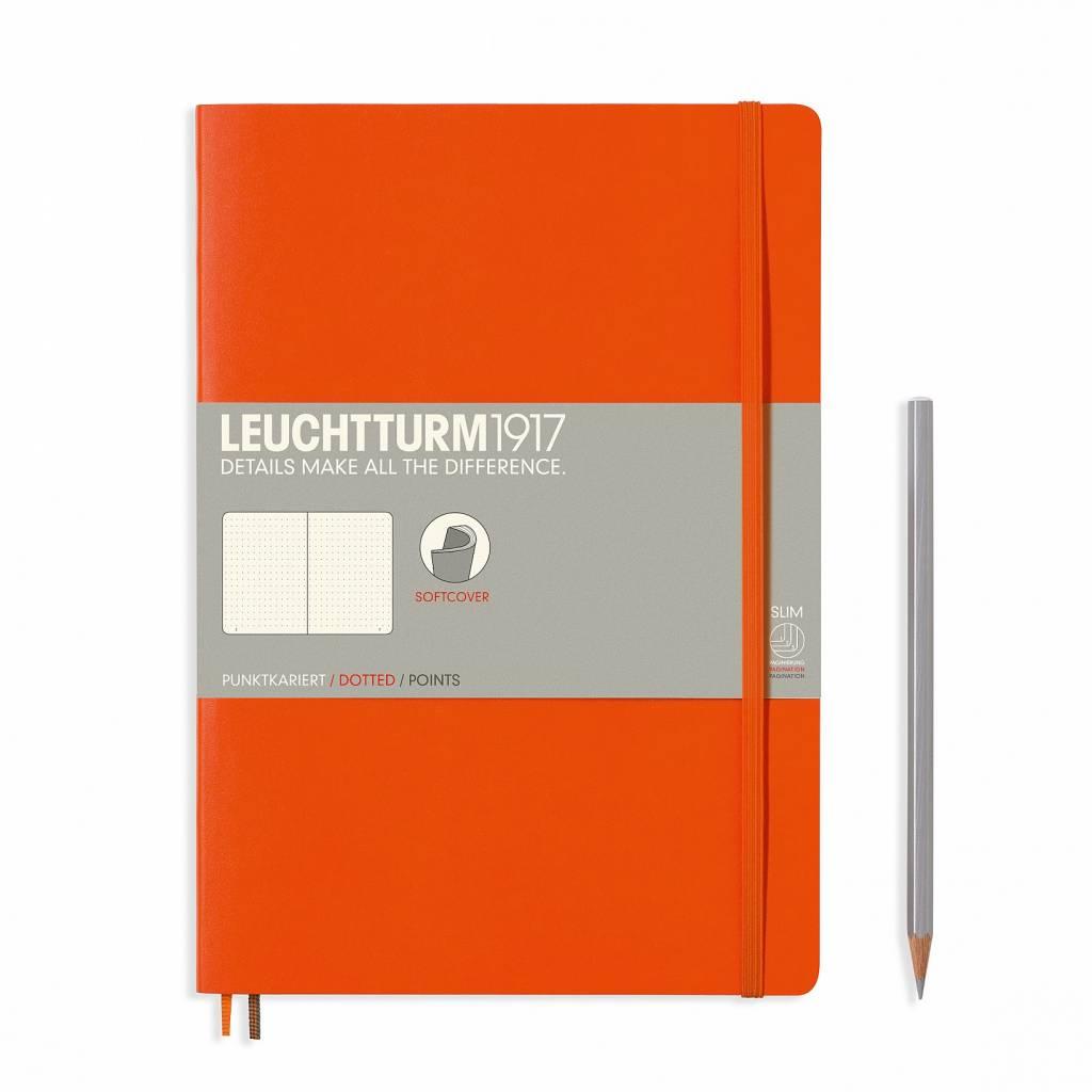Leuchtturm1917 Notizbuch COMPOSITION B5 SC orange dotted