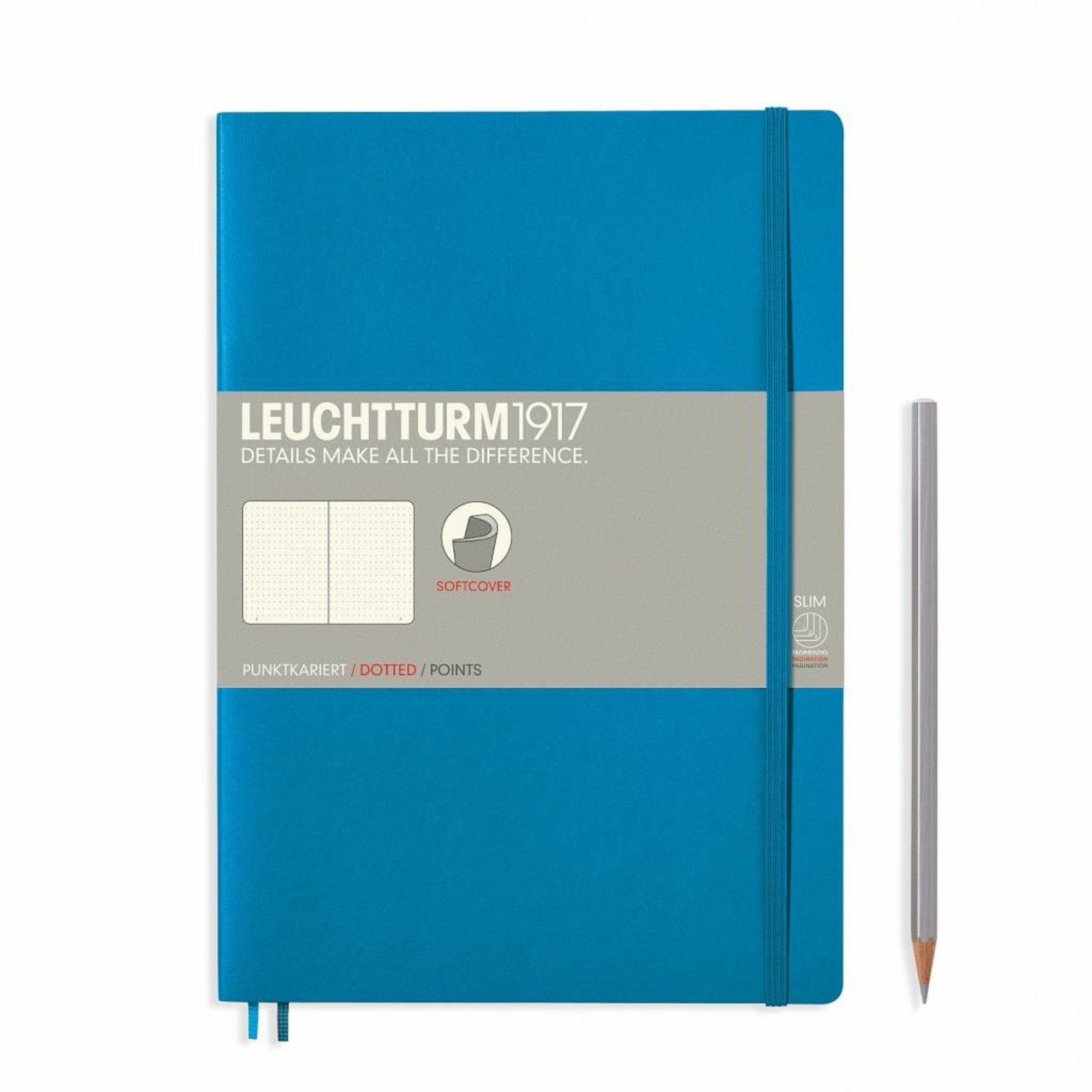 Leuchtturm1917 Notizbuch COMPOSITION B5 SC azur liniert