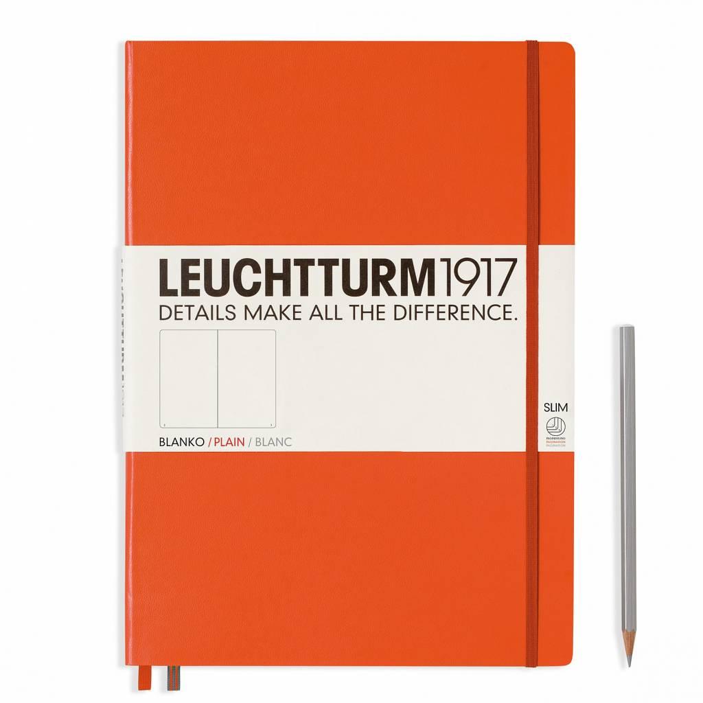 Leuchtturm1917 LT Notizbuch A4 MASTER SLIM orange glatt