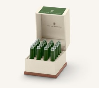 Graf von Faber-Castell Tintenpatronen Geschenkpackung Moss Green 20x