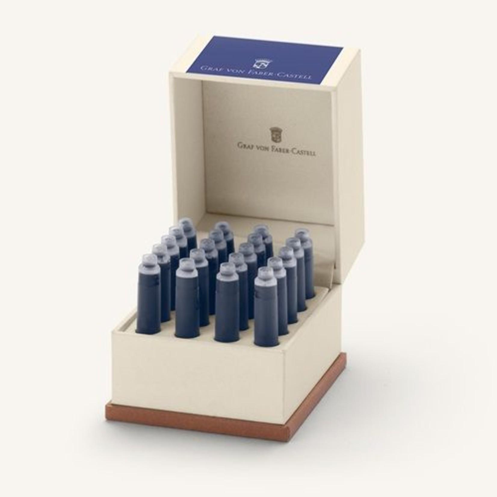 Graf von Faber-Castell Tintenpatronen Geschenkpackung cobalt Blue 20x