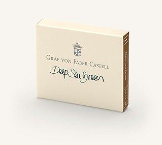 Graf von Faber-Castell GvFC Tintenpatronen 6Stk. Deep Sea Green