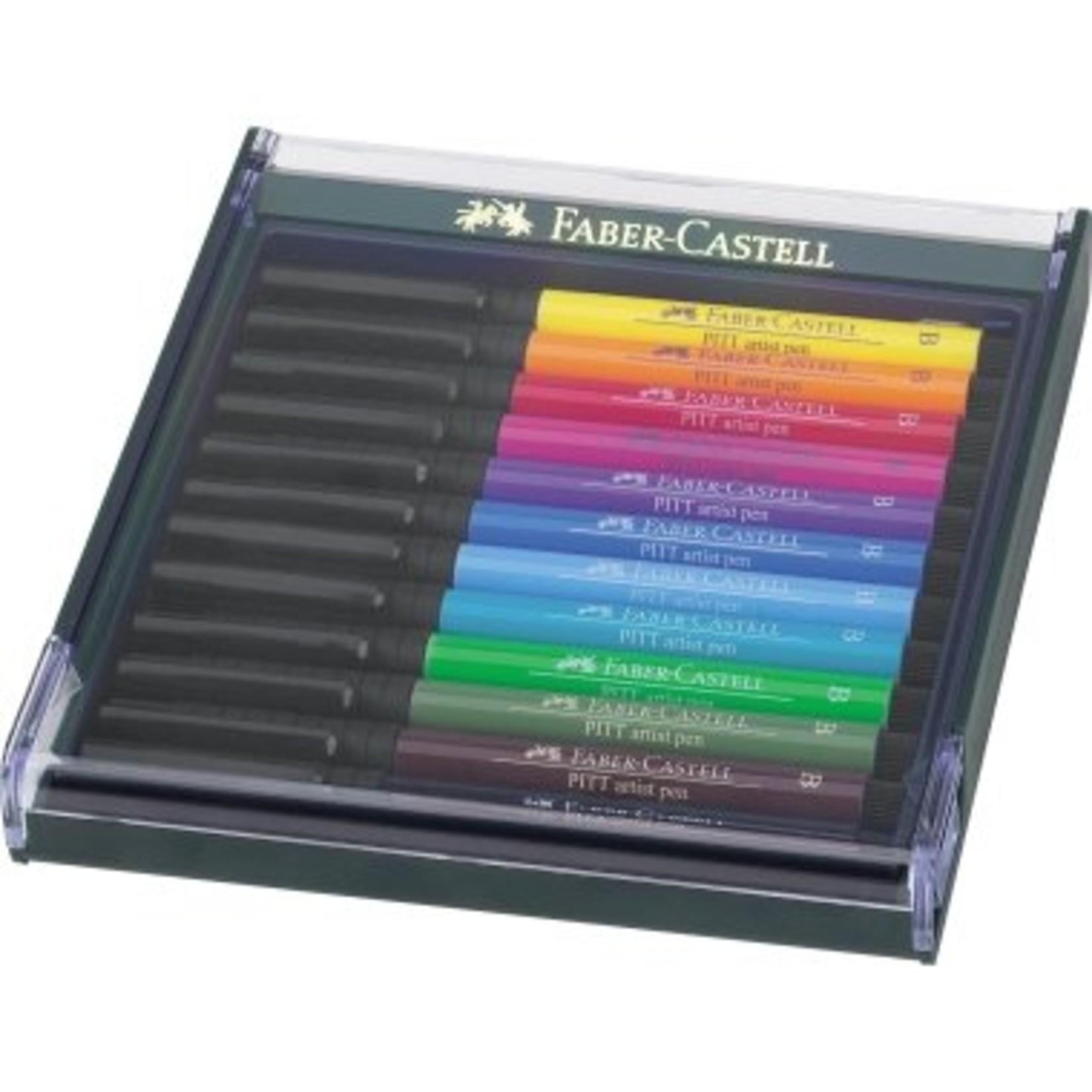 Faber-Castell Faber Castell Tuschestift PITT Artist pen Broad Grundtöne 12 Stück