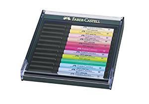 Faber-Castell Tuschest,PIT Artist pen B Pastell 12Stück