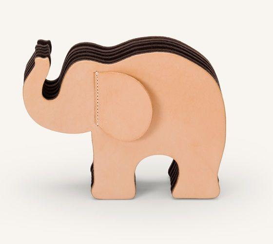 Faber-Castell Graf von Faber Castell Elefant Gross Naturleder mit 12 Polychromos im Etui