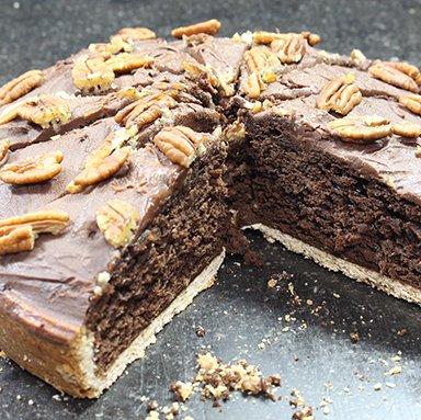 Brownie pecan taart 12 punts