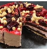 Frambozen brownie taart 12 punts