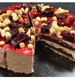 Frambozen brownie taart 12 punts BAD5912