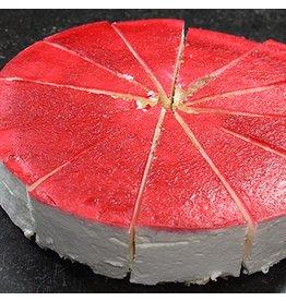 Kwarktaart met rode spiegel 12 pnt 2145909