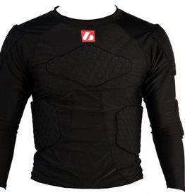 barnett FS-08 kompression T-shirt med långa ärmar, 5 integrerade delar, för amerikansk fotboll