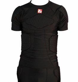 barnett FS-09 kompression T-shirt med korta ärmar, 4 integrerade delar, för amerikansk fotboll