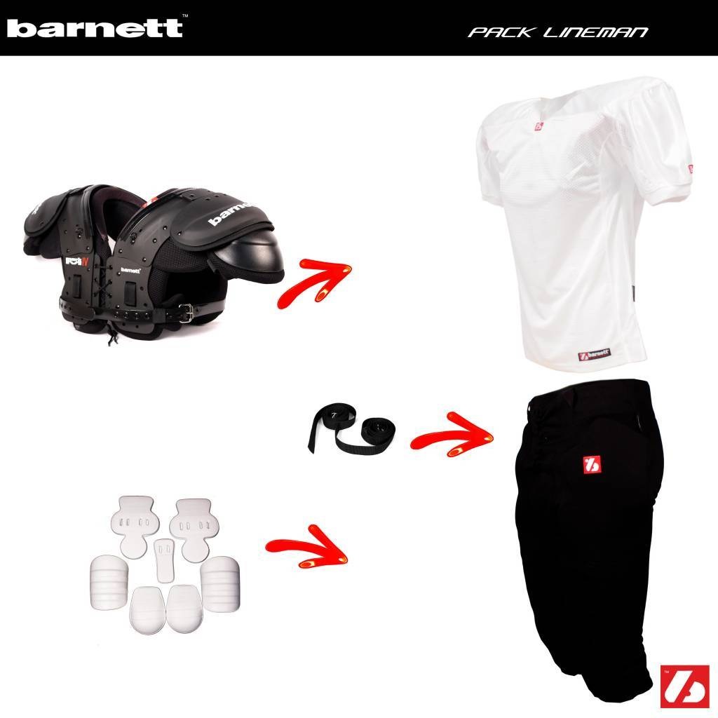 barnett Pack Lineman Football set 092508518f9fd