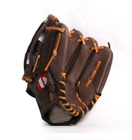 "GL-125 Competition baseball glove, 12.5"" genuine leather, outfield, Brown"