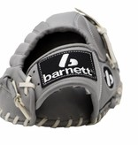 "barnett FL-120 high quality, leather baseball glove, infield/outfield / pitcher 12"", light grey"