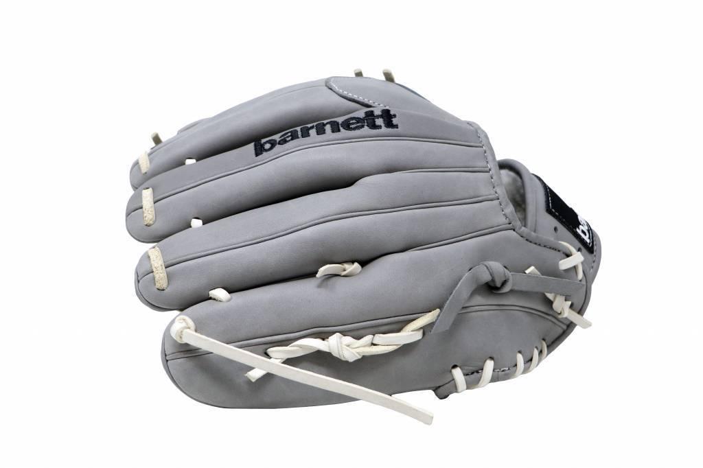"""barnett FL-120 högkvalitativ, läderbaseballhandske, infield / outfield / pitcher 12 """", ljusgrå"""