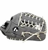"""barnett FL-127 """"högkvalitets läderbaseballhandske, infield / outfield / pitcher, ljusgrå"""