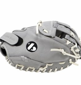 "barnett FL-201 "" baseball glove, high quality, leather, catcher, light grey"