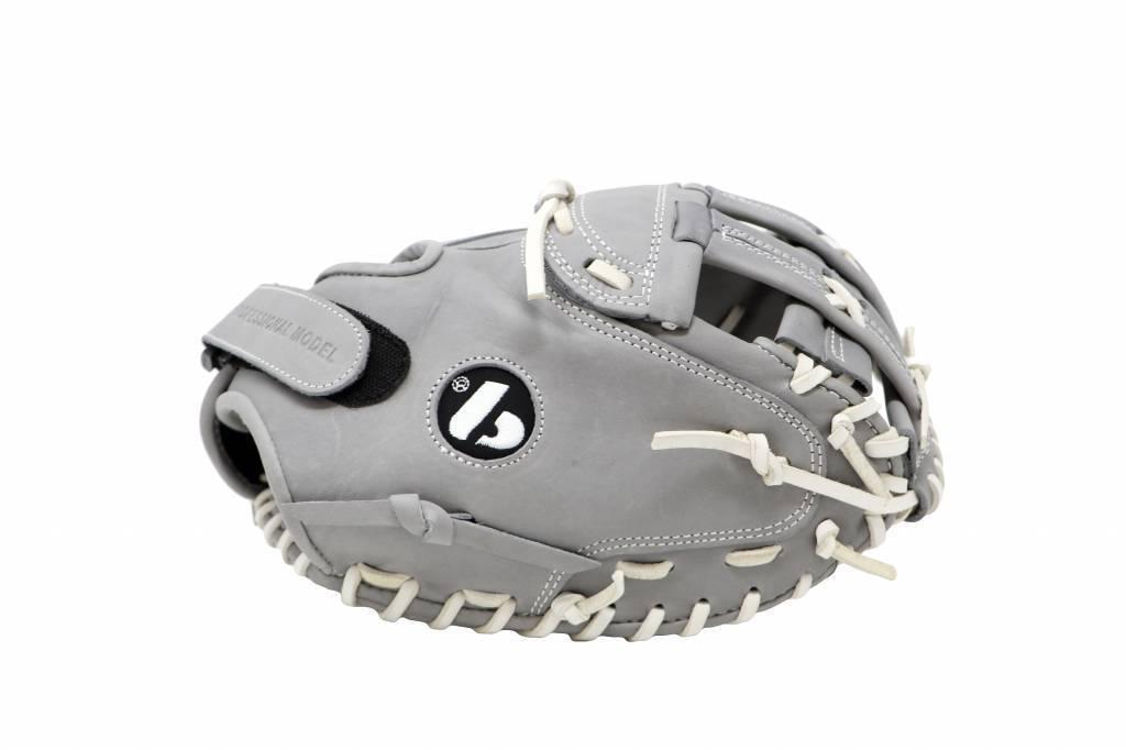 "barnett FL-201 "" baseball glove, high quality, leather, catcher, light grey"