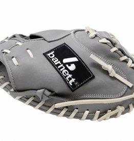 "barnett FL-203 ""softballhandske, hög kvalitet, läder, catcher, ljusgrå"