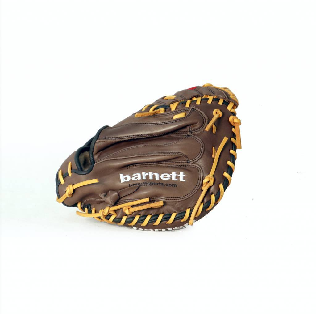barnett GL-202 Competition catcher baseball glove, genuine leather, adult 34'', Brown
